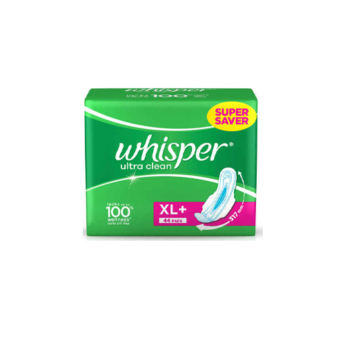 Whisper-Ultra-Clean-Sanitary-Napkin-XL-With-Wings-44-Pads