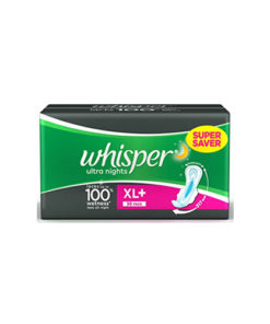 Whisper-Ultra-Over-Night-Sanitary-Napkin-XL-With-Wings-30-Pads-
