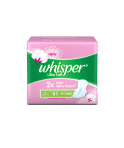 Whisper-Ultra-Soft-Sanitary-Napkin-XL-With-Wings-15-Pads
