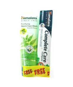 Himalaya-Herbals-Purifying-Neem-Face-Wash,-100ml-with-Free-Sparkling-White-Toothpaste,-40g