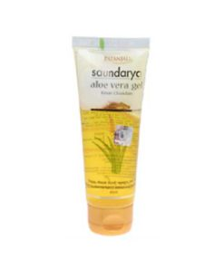 Patanjali-Saundarya-Aloe-Vera-Gel-With-Kesar-Chandan,-150ml