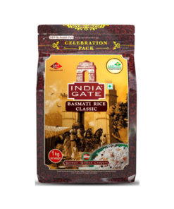 India-Gate-Basmati-Rice-Pouch,-Classic,-1kg