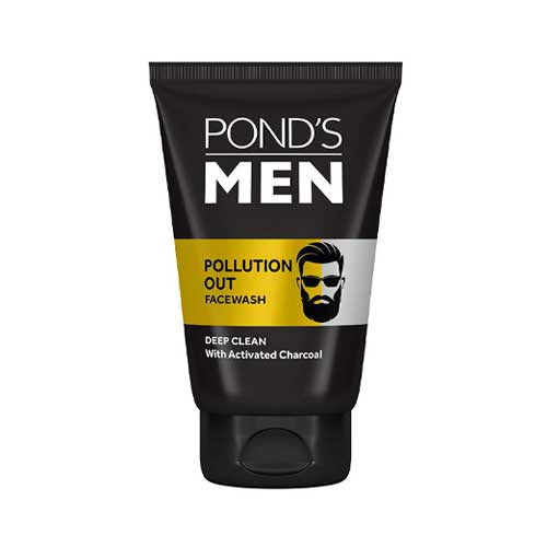 Ponds Men Pollution Out Activated Charcoal Deep Clean Face Wash 100g