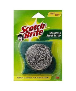 Scotch-Brite-Steel-Scrubber-With-Scrub-1Pcs