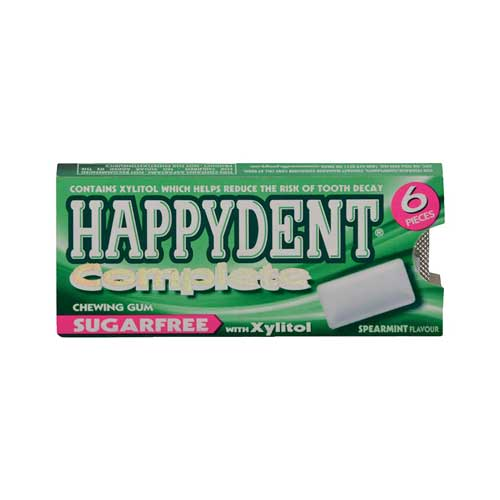 Happydent Complete Sugarfree Spearmint Chewing Gum 6.6g
