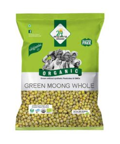 24 Mantra Organic Green Moong Dal Whole 500g