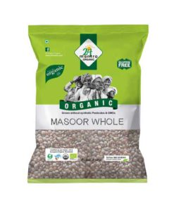24 Mantra Organic Masoor Whole 500g