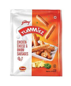 Yummiez-Chicken-Cheese-&-Onion-Sausages-250g